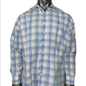 Vineyard Vines Slim Fit Whale Shirt Men's XL Plaid